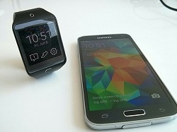 Samsung Galaxy S5 and Samsung Gear 2 Neo